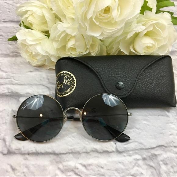 d2fa34eb8ba  Ray-Ban  Round Metal Polarized Sunglasses